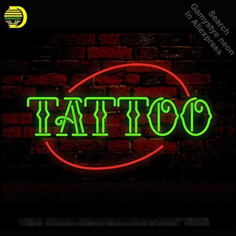 Néon signe tatouage néon lumière signe bière Pub signe artisanal hôtel vrais Tubes en verre personnalisé rétro néon signes à vendre