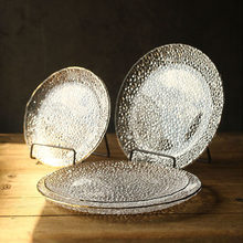 KINGLANG Crystal Glass Plate Phnom Penh Snack Fruit Plate Restaurant Cold Dish Western Tableware(China)