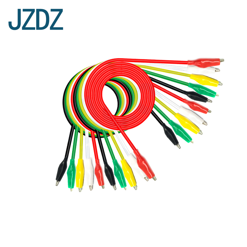JZDZ J.70037 20 PCS Crocodile clip, DIY electronic test wire, double head crocodile clip