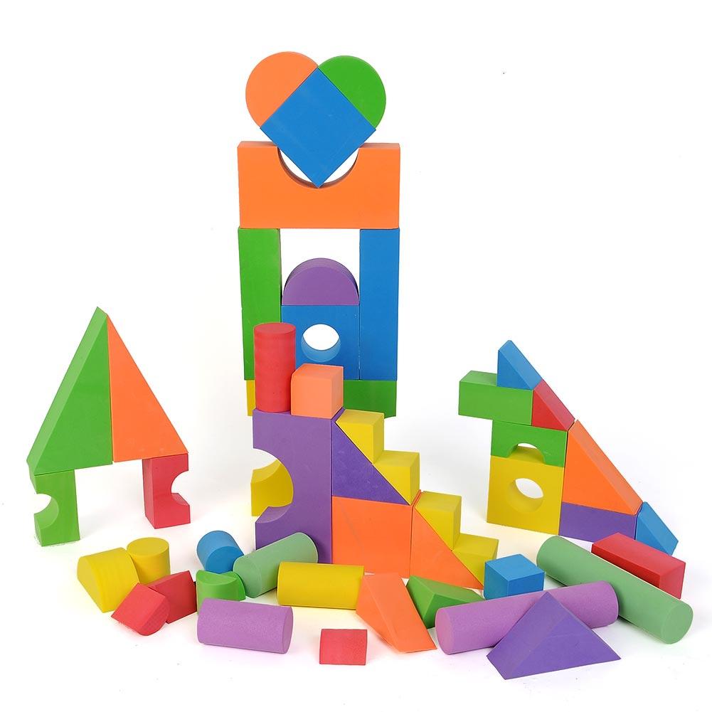 creativo diy unidades preescolar juguetes de bloques de construccin de espuma eva suave juego de