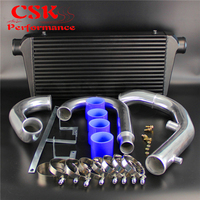 Bar & Plate Intercooler + Pipe Piping Kit Fits For Mitsubishi Lancer EVO 7 8 9 CT9A 4G63 04 07 Red / Blue / Black
