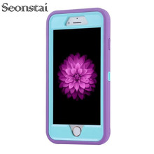 Seonstai for Apple iPhone X Armour Case for iPhone 8 8plus ShockProof Soft TPU Hybrid Tough Anti-Scratch Cover for iphone 7 Plus cheap IPHONE 8 PLUS Anti-knock Dirt-resistant Business Sports Apple iPhones Shockproof Armour Case for iphone 7 Fitted Case Armour Slim Cases for iphone 8