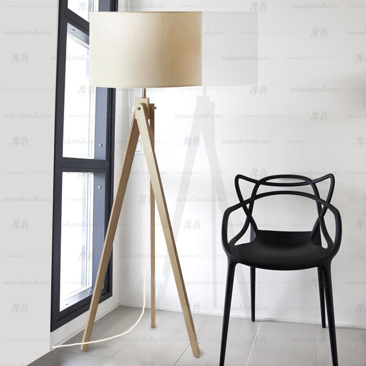 Continental Wooden Tripod Floor Lamp IKEA Bedroom