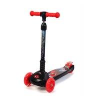 Детская Человек паук kick скутер ПУ освещения 4 колеса обучения детей Баланс мини для верховой езды складной самокат