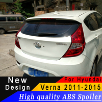 For Hyundai Verna 2011 to 2015 High quality ABS material Hatchback Spoiler Primer or any color Rear wing spoiler for Verna