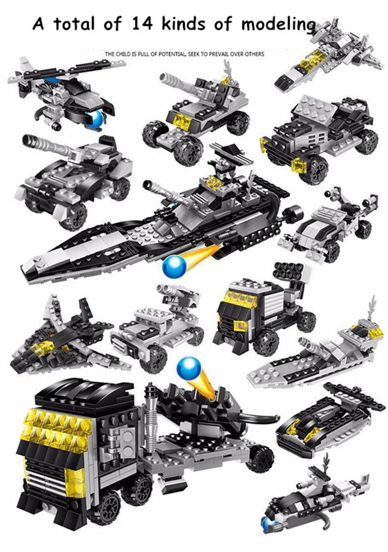 3D Model Building Kit Thunder War Simulation Game DIY Building Blocks Educational Bricks Toys The Best DIY Gift For Kids