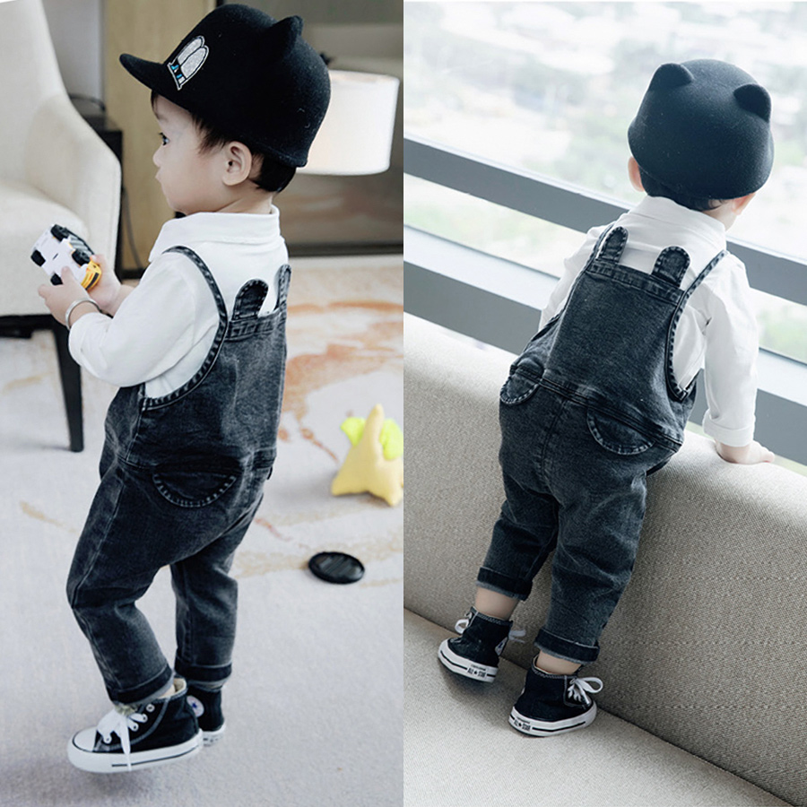Baby Boys Clothing Set White T shirt + Denim Pants Fashion Baby Boy Clothes Newborn Baby Clothes Cowboy Belt Pants Baby Gift baby boy clothes monkey cotton t shirt plaid outwear casual pants newborn boy clothes baby clothing set