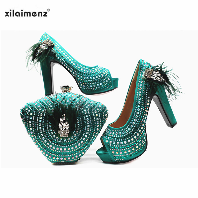 Green Color African Women Matching Italian Shoe And Bag Set For Wedding Italian Shoes With Matching Bags Italy Shoes Women S Pumps Aliexpress