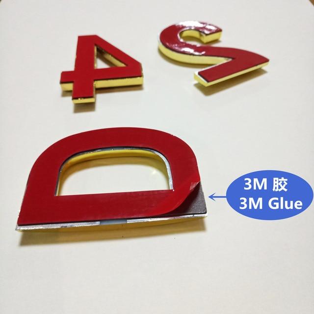 Plaque dorée moderne 70mm 0123456789ABCD-Z Wonzeal | Autocollant avec chiffres de porte dhôtel maison, signe de Plaque, en plastique ABS