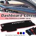 Для Toyota Camry 2018 автомобильный LHD крышка приборной панели солнцезащитный тент накладка ковра для приборной панели противоскользящая накладка
