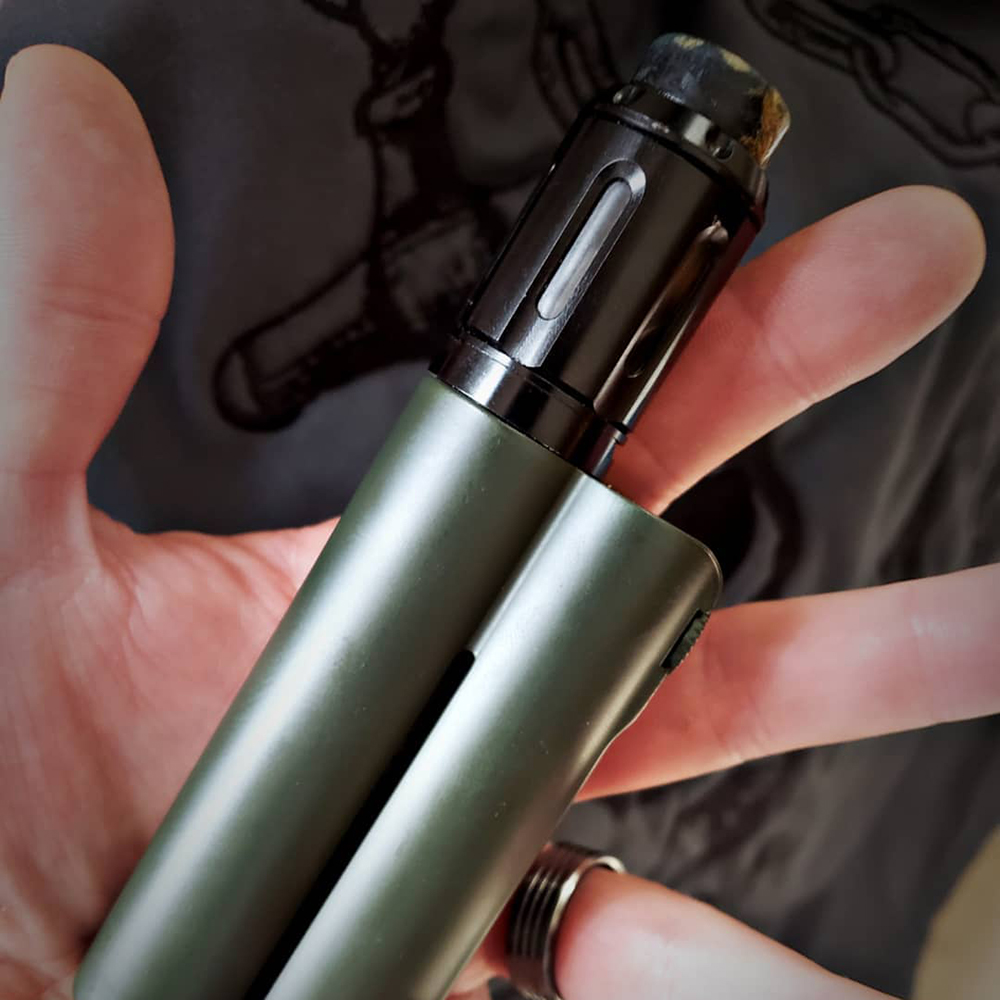 Poids lourds calamar Industries Double baril V3 150 W VW MOD avec pacificateur RTA 4 ml/XL RTA 5 ml pas de batterie VS glisser 2/glisser Mini
