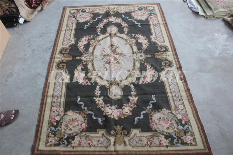 Free shipping 10K 4'x6' hand Knotted needlepoint woolen rug/carpet, 100% Wool & Handmade rug for home decor