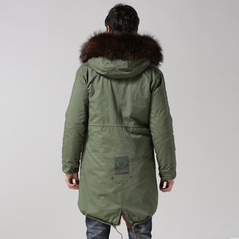 Best Down Jackets | 2017 Mens Outwear Long Brown Fur Coat, Mens Winer Fashion Warm Fur Jacket, Real Collar Best Quality For Mens Real Parka
