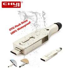 Металл 3 в 1 флэш-накопитель usb otg 4 ГБ 8 ГБ 16 ГБ 32 ГБ 64 ГБ накопитель водонепроницаемый флешки memoria USB Stick U диск с Стилус