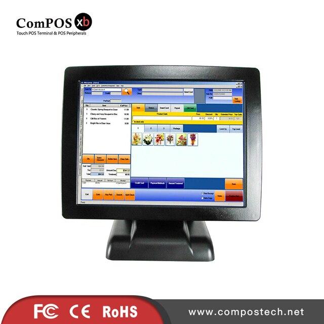 Système de point de vente au détail avec écran tactile de 15 pouces, écran résistif à 5 fils pour supermarché 1