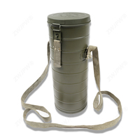 WWII WW2 KMT MILITARY ARMY GAS MASK CANS BOX CANISTER CONTAINER REPLICA