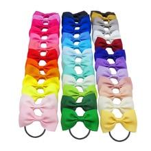 1 шт., однотонные цветные эластичные резинки для волос, банты для девочек, круглый галстук для волос, аксессуары для волос, головные уборы, лучший подарок на праздник