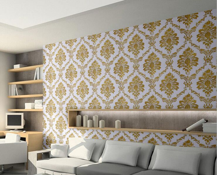European style Damask Wall paper Roll Modern Luxury Wallpapers Floral  desigh for Living Room Walls papel de parede pa modern fashion 3d mosaic wallpapers for living room bedding room wall paper roll for walls tapety 3 colors