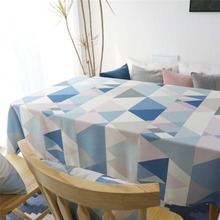 Nordic Geometric Table Cloth Waterproof Tablecloth Decorative Table Cover Mat Kitchen Home Decor Printed Covered Cloth Nappe цена 2017