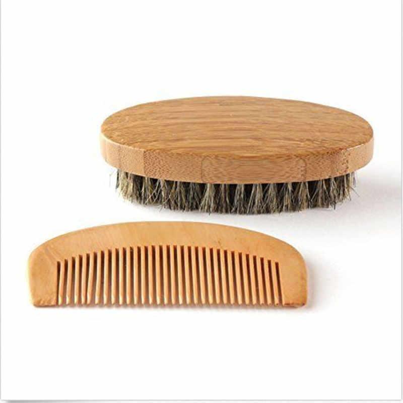 Kit, brosse à barbe en poils de sanglier, et peigne à barbe fait à la main, pour homme, nouvelle collection offre spéciale