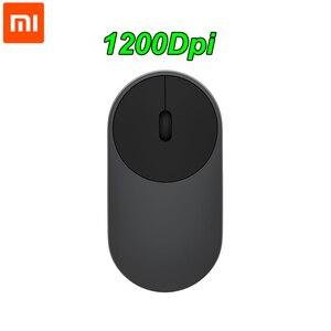 Image 1 - Xiaomi Drahtlose Maus Tragbare Bluetooth 4,0 Aluminium Legierung ABS Material Gaming Maus RF 2,4 GHz Dual Modus Verbinden Mi 1200DPI
