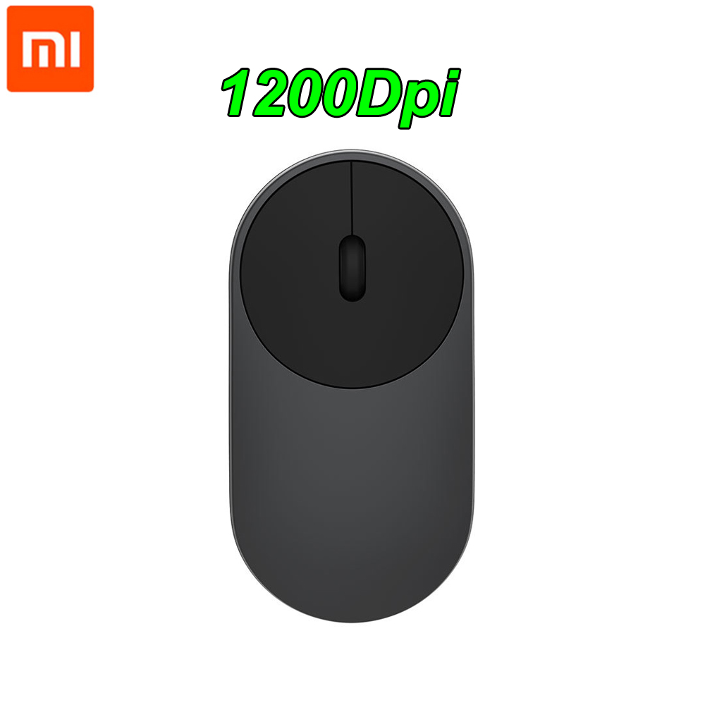 Xiaomi Wireless Mouse Portable  Bluetooth 4.0 Aluminium Alloy ABS  Material Gaming Mouse RF 2.4GHz Dual Mode Connect Mi 1200DPI-in Mice  from Computer