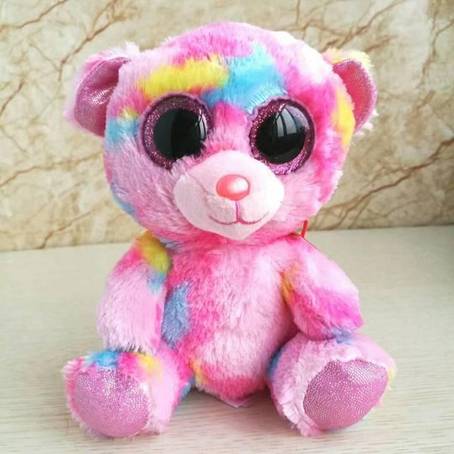 5ffbd8668cf franky bear TY BEANIE BOOS 1PC 15CM BIG EYE Plush Toys Stuffed animals KIDS  TOYS VALENTINE