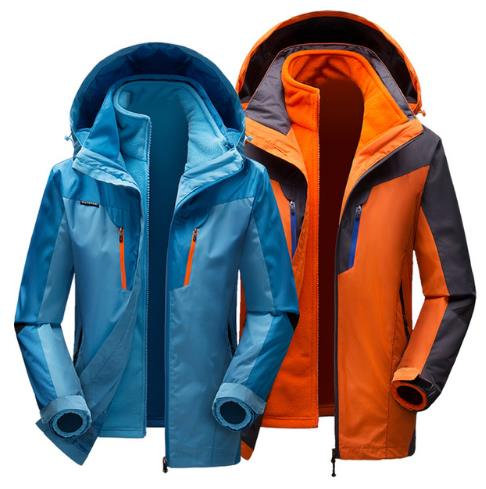 New Winter Men and Woman Waterproof 3 in 1 Hiking Jacket Windproof Blue Softshell Camping Outdoor Coats Windbreaker Hunting Clot new arrival autumn and winter 2017 outdoor softshell long sleeves solid color zipper pocket sports windbreaker men 150