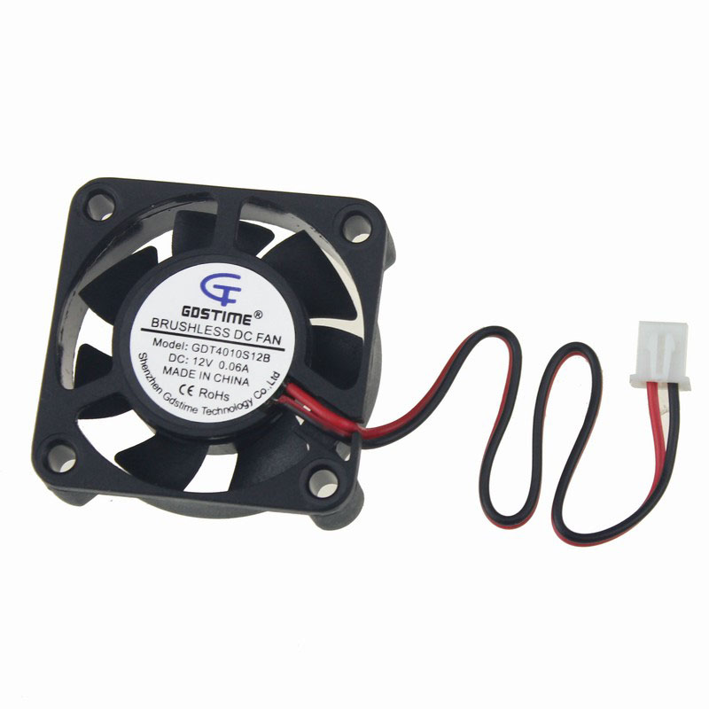 Gdstime 50 pcs 12V 4010 40x40x10mm DC Brushless Cooling Fan 40mm x 10mm 4cm Small Cooler