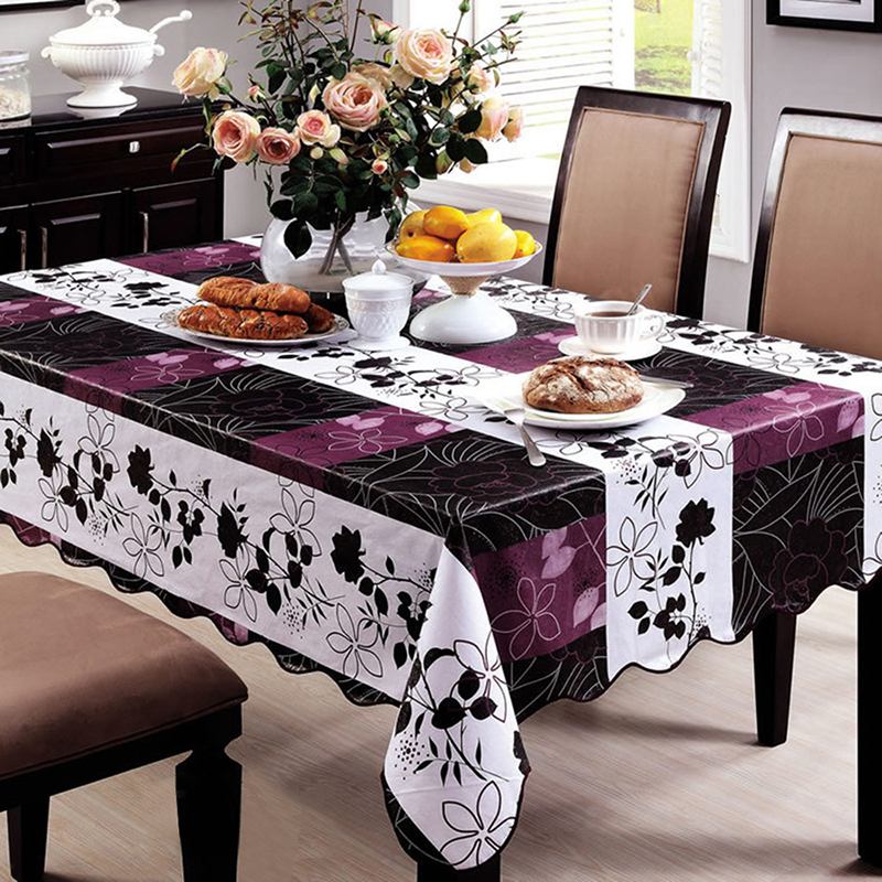 waterproof oilproof wipe clean pvc vinyl tablecloth dining kitchen table cover protector. Black Bedroom Furniture Sets. Home Design Ideas