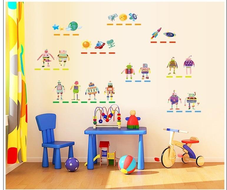new50 * 70 cm kualitas tinggi wall sticker robot untuk anak laki