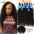 Onda profunda Brasileña Del Pelo 4 Paquetes Rizado Humano de la Armadura de la Onda Profunda queen hair del pelo de la onda profunda brasileña barata del pelo 7a grado profundo Curl