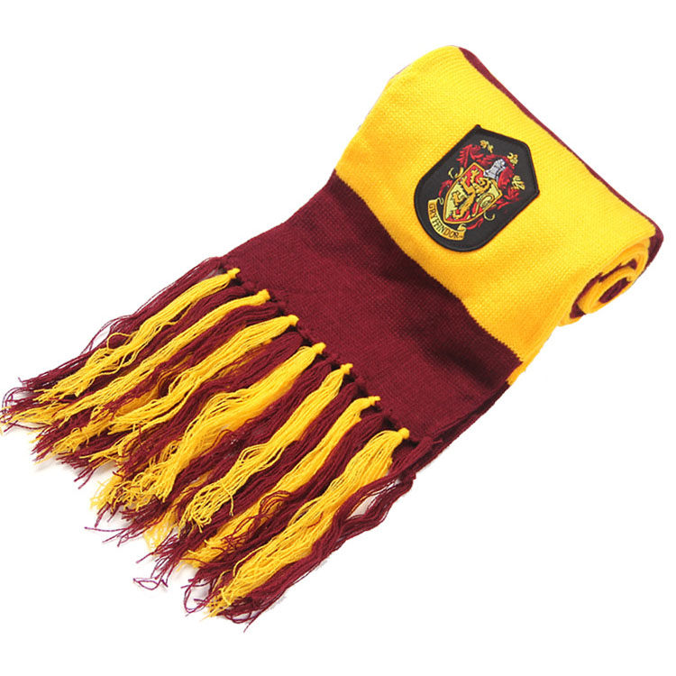 Scarves Gryffindor Slytherin Hufflepuff Ravenclaw Scarves Cosplay Costumes Halloween Gift for Harri Potter Cosplay