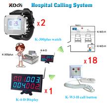 Nowości wyświetlacz LED bezprzewodowy pielęgniarki otrzymać telefon zwrotny od awaryjne system pagera z 1 wyświetlacz i 2 zegarek pager dla pielęgniarki i 18 otrzymać telefon zwrotny od dzwony tanie tanio Ycall K-4-D+K-300plus-black+K-W3-H LED display Wireless Nurse Call Emergency Pager System 433 92mhz Can show 4 groups call number in one time