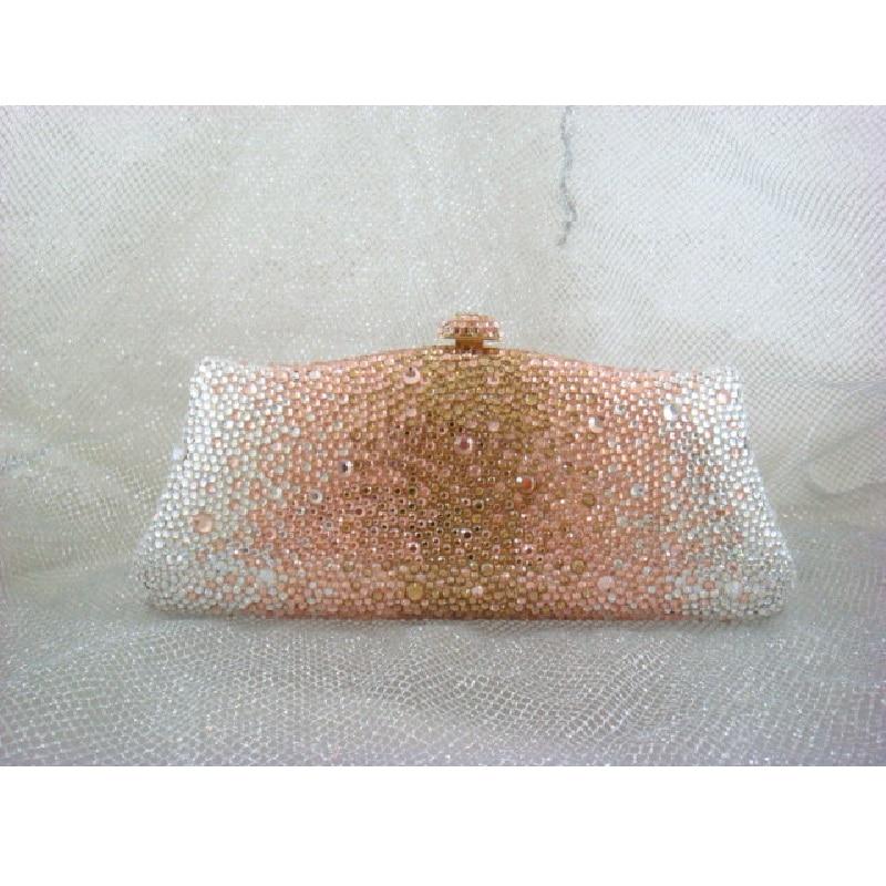 ФОТО L7788ZG Gold Crystal in Gradual change effect Bridal Party Night Metal Evening purse clutch bag case box handbag