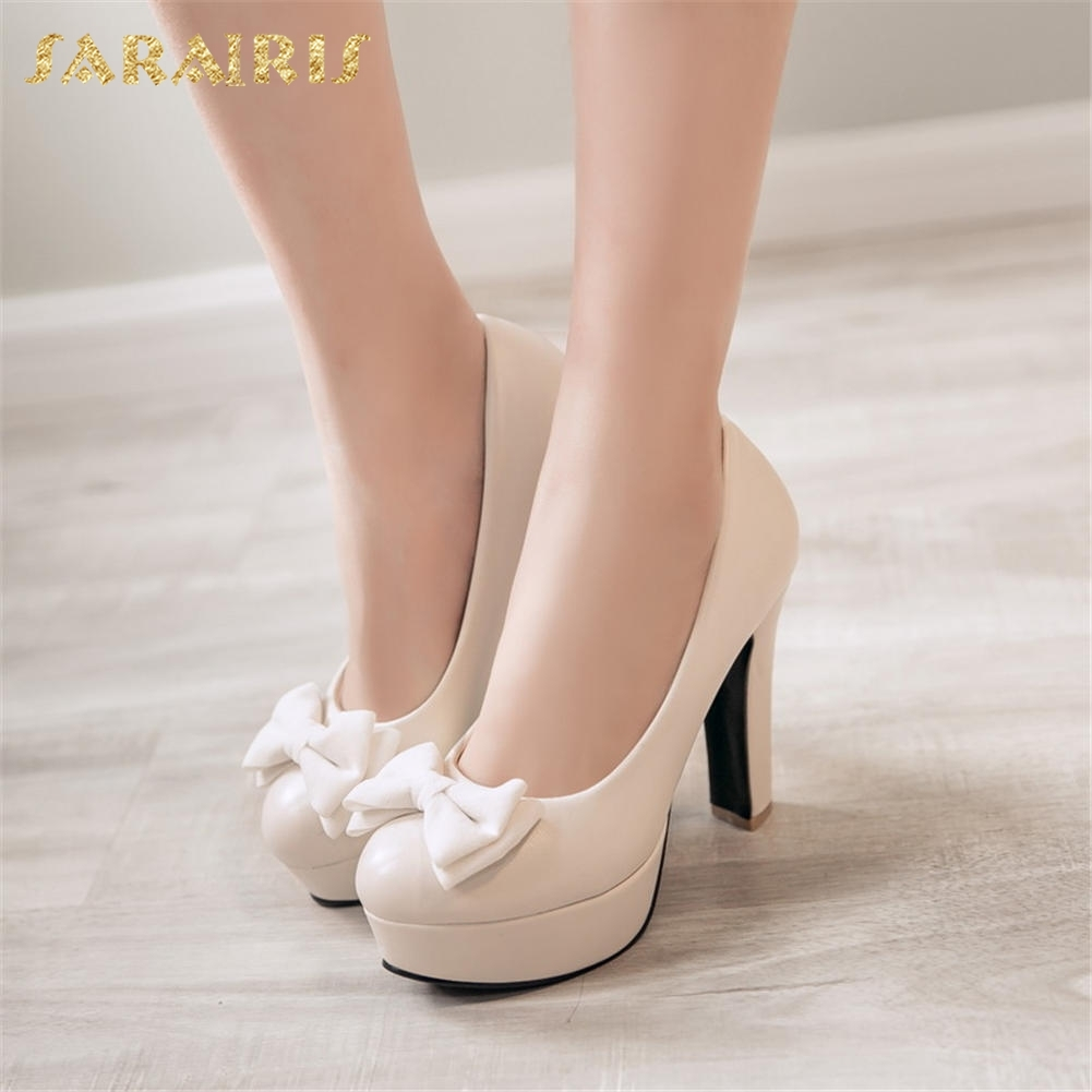 SARAIRIS 2018 Large Size 32-43 Hot Sale Women Pumps