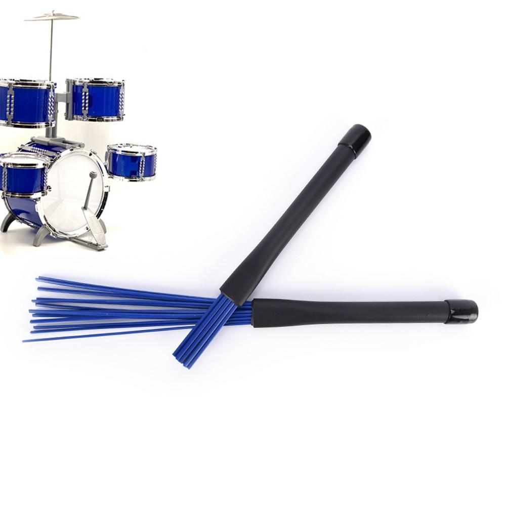 1Pc Black/blue Jazz Drum Brushes Retractable Drum Sticks 32cm