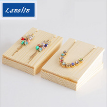 Wood earrings display Holder For Store Wood Jewelry Display Stand Showcase necklace Display Stand Storage Shooting props