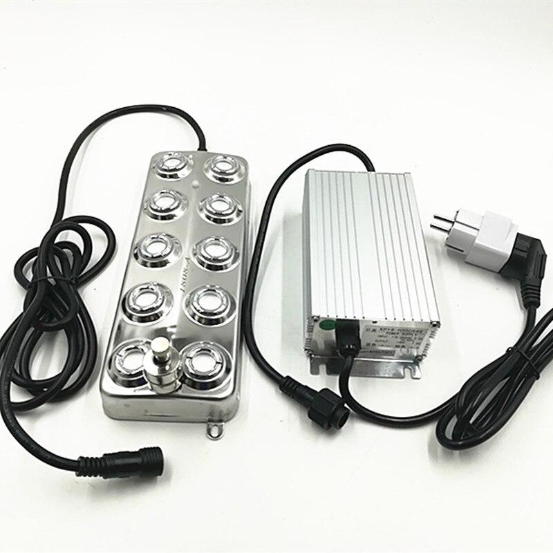 DC48V 10 Tête 5 kg/h Industrielle Ultrasons Mist Maker Fogger Atomiseur À Ultrasons Avec résistant à L'humidité Alimentation Brouillard Humidificateurs