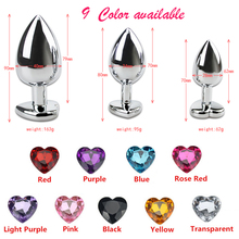 Jewelry Metal Crystal Anal butt Plug set big ass plug  Sex Toys for women Steel Butt erotic massager Products
