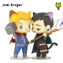 Mr.Froger Cat Q Version CP Chibi Cute Action Figure Super Hero Model PVC Dolls Toys Animation Cute Mini Superhero Action Figures