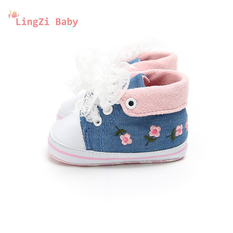 Baby Shoes Baby The First Walker Shoes Baby Girl With Delicate Embroidery Flowers Soft Bottom Toddler Shoes Lahore