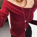 Новая Мода Ожерелье 2017 Медь Партия Свитер Ожерелье Длинная Цепь Старинные Крест Для женщин Ожерелье Одежда Ювелирные Изделия