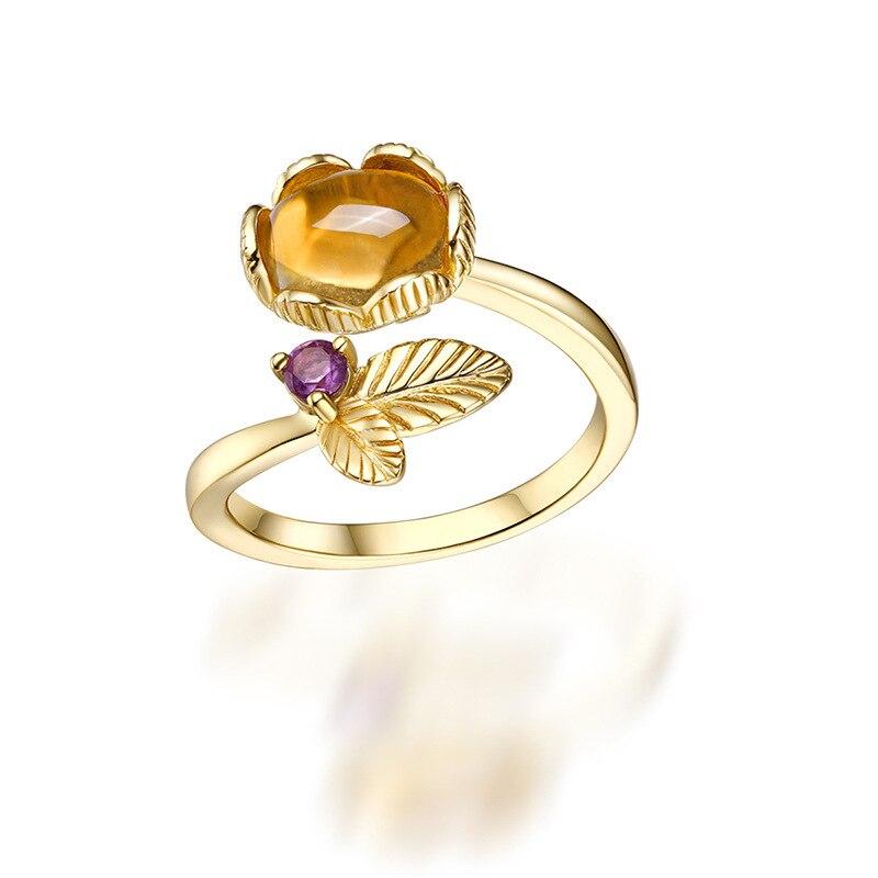 TYME 2017 bijoux de mode coréenne couleur or jaune anneaux d'amour pour les femmes anneau de mariage naturel accessoires féminins en gros