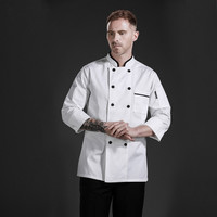 Free Shipping Chef Clothing 2017 Long Sleeve White Chefs Uniform Hotel Restaurant Cook Jacket Men & Women Chef Master Work Coat