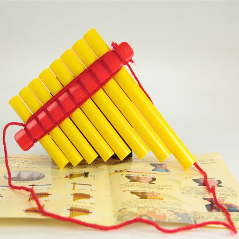 Children 39 s handmade panflute DIY Orff music toys ABS plastic 8 pipes flute musical instrument paternity aids xiao Kids Gift Toy in Flute from Sports amp Entertainment