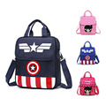 Captain America Child School Bag Cartoon backpacks/kids kindergarten backpack/kid school bags/Satchel for boys and girls