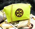 DL034 Mujer bolsos 17*14 cm Nueva Corea fluorescente del color del caramelo monedero de la cartera del bolso de hombro de la cadena de paquetes diagonal