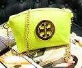 DL034  Women bags 17*14cm New Korean candy color fluorescent wallet purse handbag chain shoulder diagonal packet