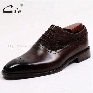 Image 2 - משלוח חינם דבק קרפט cie עור עגל עליון פנימי של הגברים outsole בנות אוקספורד צבע חום עם נעל עור זמש OX207